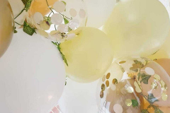 Beautiful organic confetti garland