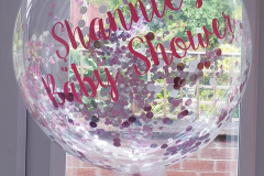 confetti filled and personalised bubble balloons