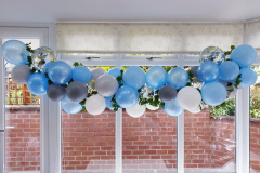 Pretty organic garland, all set for delivery to a baby shower party